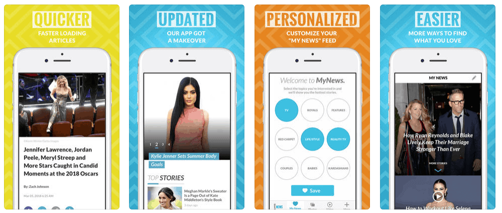 E News! Mobile Entertainment App Screenshots