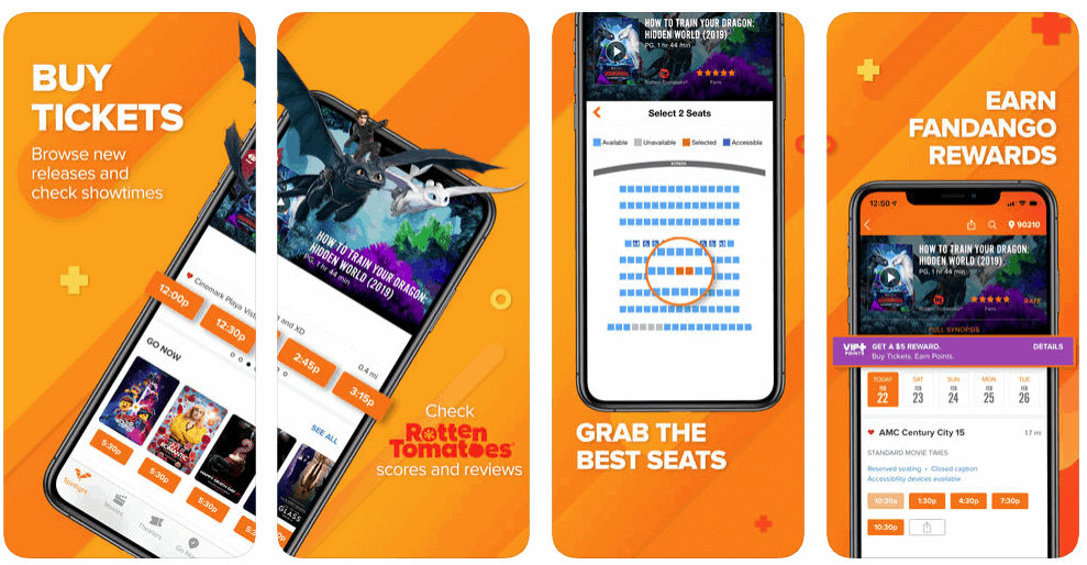 Fandango Movie App Development Screenshot