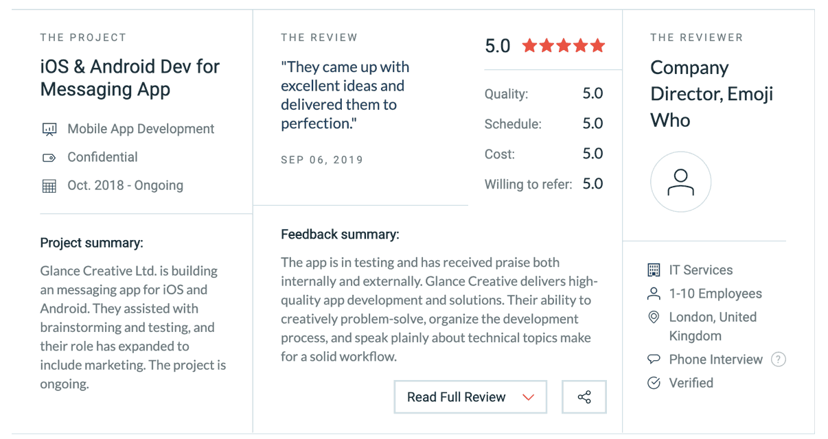 Trusted Mobile App Developers Reviews and Testimonials
