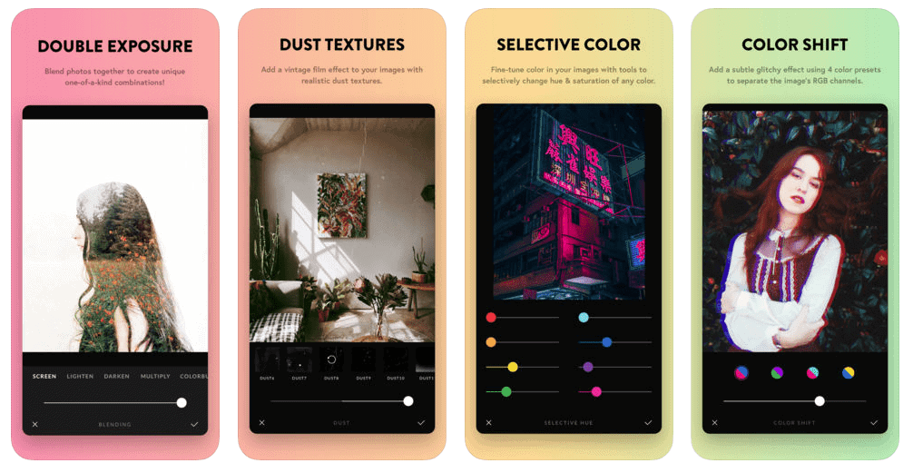Afterlight 2 Photo Editing Mobile App Store Screenshot Example