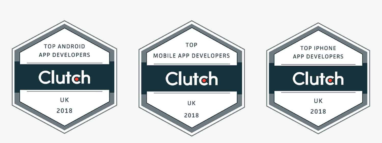 Collection of Clutch Mobile App Development Awards London UK