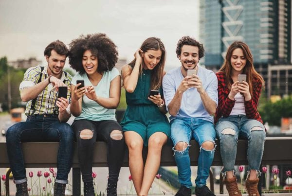 Connecting and sharing via mobile app development